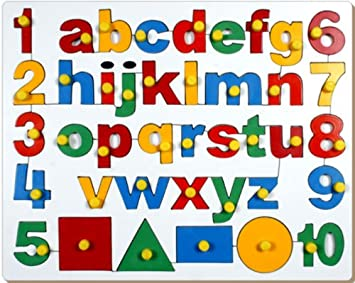 Little Genius English Alphabets (ABC) with Numbers and Shapes