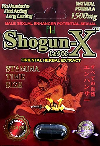 Shogun X 1500mg 1 Pill Male Enhancing Natural Performance Pill The New Most Effective Natural Amplifier for Performance, Energy, and Endurance