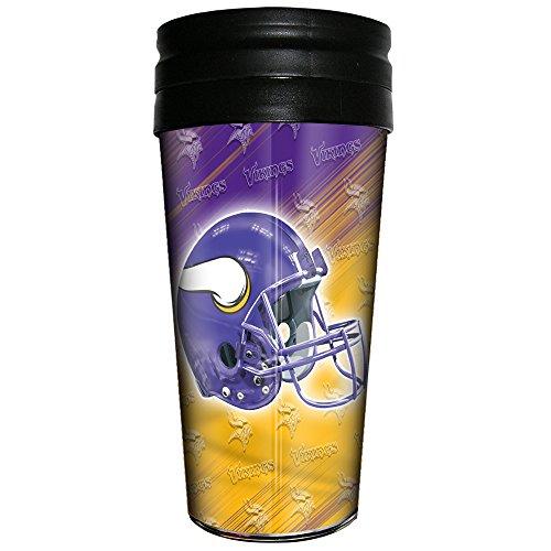 Mn Cup - NFL Minnesota Vikings 3D Metallic Thermal Mug, 16-ounce