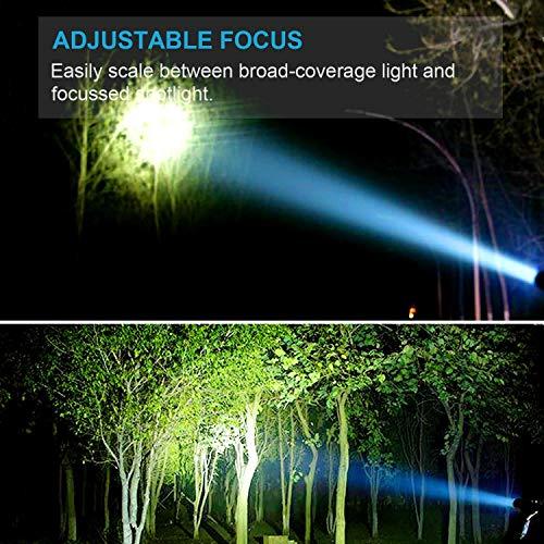 LETION LED Taschenlampe,Superhelle 1500 Lumen CREE taschenlampe Led,5 Licht Modi,Wiederaufladbare Taschenlampe mit Zoom für Camping,Wandern Inspektionsleuchten (Inklusive 2x18650 Batteries)