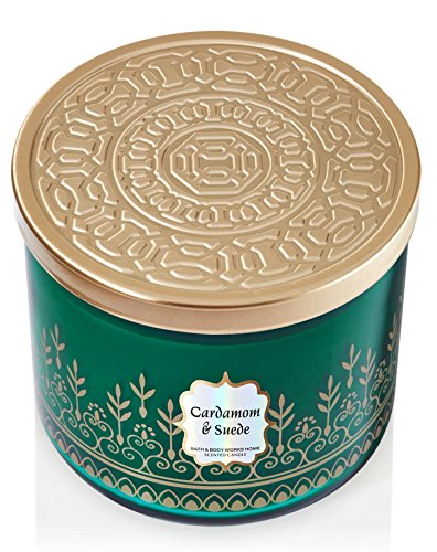 1 X Bath and Body Works Cardamom and Suede 3 Wick Scented Candle Cardamom Candle