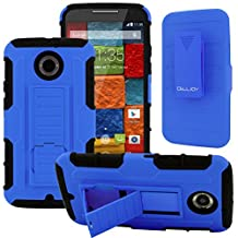 Moto X2 Case, CellJoy [Future Armor] {Cobalt Blue} Motorola Moto X 2nd Generation / X+1 2014 Release Model Case (WILL NOT FIT MOTO X 1st Gen) Hybrid Ultra Fit Dual Protection [Heavy Duty] Kickstand Holster **Shock-proof** [Belt Clip Holster Combo] - Robot Case Cover