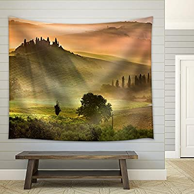 Quality Creation, Alluring Artistry, Sunrise in Tuscany Fabric Wall