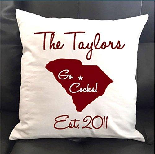 (Personalized University of South Carolina Throw Pillow 16x16)