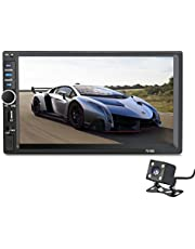 2 Din General Car Models 7'' inch LCD Capacitive Touch Screen Car Radio Player Bluetooth Car Audio Support Rear View Camera (No DVD)