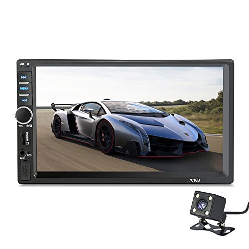 - 2 Din 7018B General Car Models 7'' inch LCD Touch Screen Car Radio Player Bluetooth Car Audio+ Rear View Camera (NO DVD)