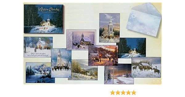 Amazon.com : Western Churches Leanin' Tree Christmas Card Assortment :  Printing And Writing Paper : Office Products - Amazon.com : Western Churches Leanin' Tree Christmas Card Assortment