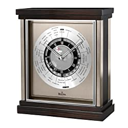 Bulova B2258 Wyndmere Clock, Spun and Brushed Finish