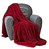 Luxury Collection Ultra Soft Plush Fleece Lightweight All-Season Throw/Bed Blanket (King (102-Inch-by-90-Inch), Burgundy)