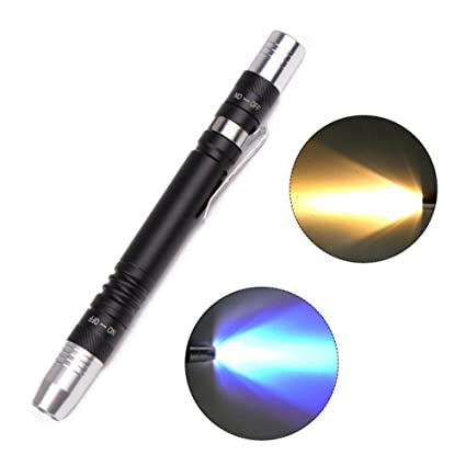 Double-Head Light Identification Torch Clip 2*AAA For Medical Pen Light WT