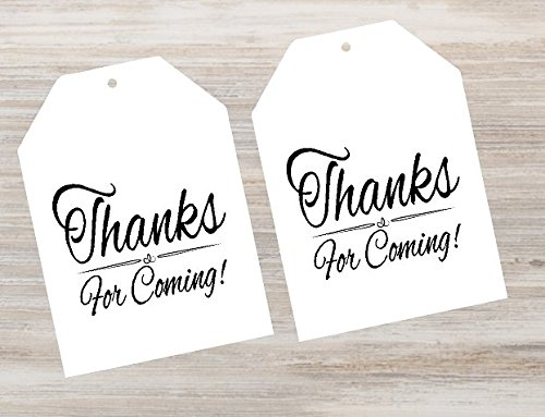 CakeSupplyShop Item#00012TGT White Thank You For Coming Bulk Gift Tags 2-1/4