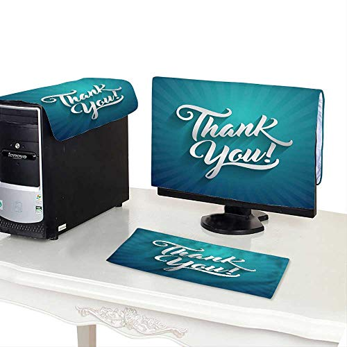 Miki Da dust Cover Computer case 27''MonitorSet Thank You Beautiful Lettering Text Vector Illustration Thank You! Greeting Card for Presentation Slide ()