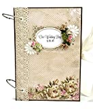 Kristabella Luxury Wedding Scrapbooks, A4 ring binder, Wedding gift, 8x11 inches, 20 beautifully decorated pages