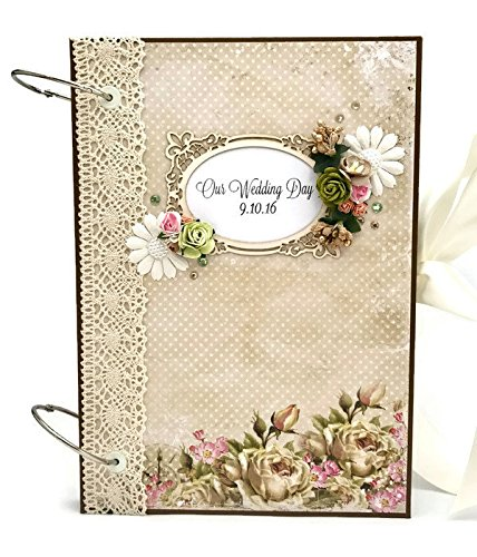 Kristabella Luxury Wedding Scrapbooks, A4 ring binder, Wedding gift, 8x11 inches, 20 beautifully decorated pages by Kristabella Creations