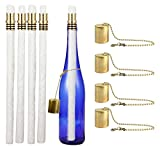 Tools & Hardware : EricX Light Wine Bottle Tiki Torch Kit 4 Pack, Includes 4 Long Life Tiki Torch Wicks,Brass Tiki Torch Wick Holders and Brass Caps - Just Add Bottle for an Outdoor Wine Bottle Light