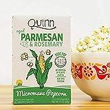Quinn Popcorn, Microwave Popcorn, Parmesan & Rosemary, 2 Bags, 3.5 oz Each(Pack of 1)