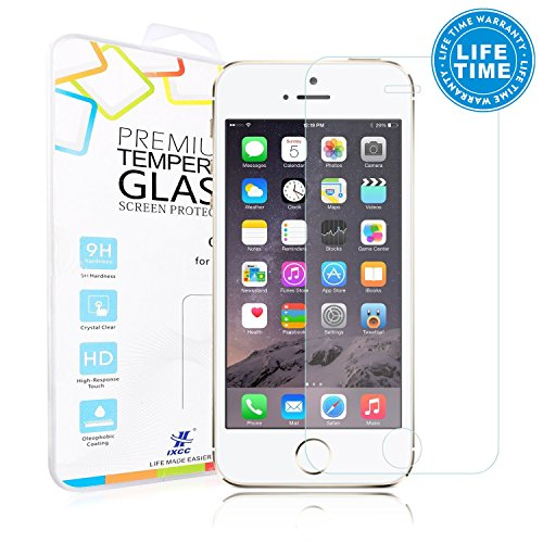 [0.2mm Ultra Thin] Apple iPhone SE / 5s / 5 / 5c Screen Protector - iXCC Crystal Clear High Definition [HD] Tempered