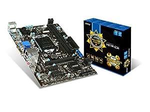 MSI Intel H81 LGA 1150 DDR3 USB 3.1 Micro ATX Motherboard (H81M-E34) (Certified Refurbished)