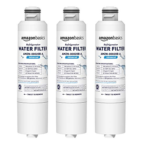 (AmazonBasics Replacement Samsung DA29-00020B Refrigerator Water Filter Cartridge - Pack of 3, Advanced Filtration)
