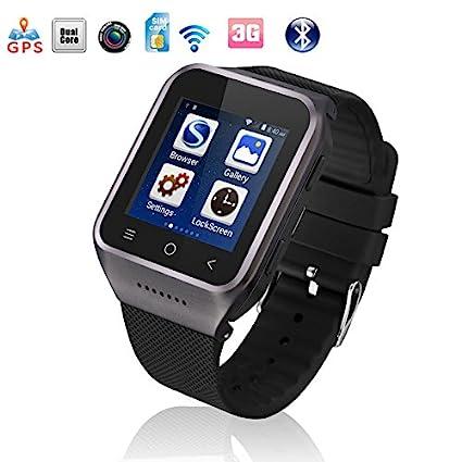 Flylinktech Reloj conectado con Bluetooth, S8-Reloj teléfono ...