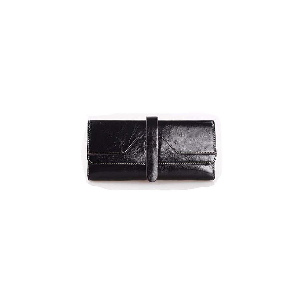 Surnoy Meine Brieftasche, öl, wachs wachs wachs ledergeldbeutel, europäischen und amerikanischen Retro, Lange gedeckte Leder,schwarz B07H7L3Y15 Geldbrsen d6c0e2