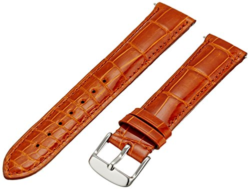 Swiss Watch International 20 MM Orange Genuine Alligator Strap 20AAT27M