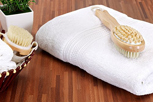 Utopia Towels 700 GSM Premium Cotton Extra Large Bath Towel (35 Inch by 70 Inch) Soft Luxury Bath Sheet, White