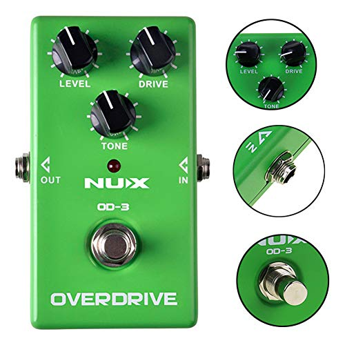 Bypass Overdrive Distortion Electric Guitar Effect Pedal Stompbox Green ()
