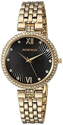 Armitron Women's Quartz Metal and Alloy Dress Watch, Color:Gold-Toned (Model: 75/5529BKGP)