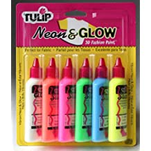 I Love To Create Tulip 3D Fashion Paint, 1.25-Ounce, Neon and Glow, 6 Per Package
