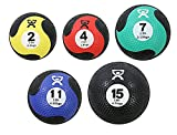 CanDo Rubber Medicine Balls, Set of five: 2, 4, 7, 11 and 15 lbs.