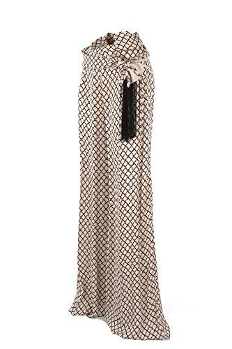 Pantalone Donna Elisabetta Franchi 40 Vaniglia/nero Pa13081e2 Primavera Estate 2018