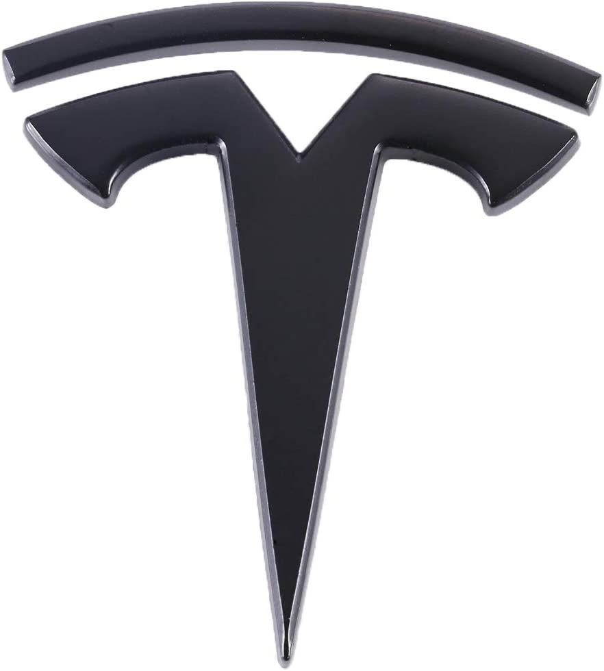 TK-KLZ 3D Metal Car Side Fender Rear Trunk Emblem Sticker Badge Decals for Tesla Roadster Model S Model X Model 3 TESLASUV Decorative Accessories Red