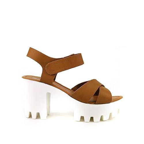 Taille CendriyonSandale 41 À Femme Caramel Manoah Chaussures Talon fvIb6gyY7