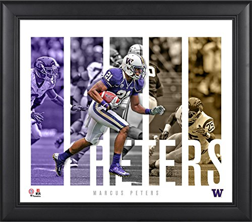 "Marcus Peters Washington Huskies Framed 15"" x 17"" Player Panel Collage - College Player Plaques and Collages"