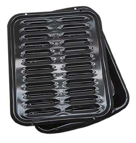 Range Kleen Porcelain Broiler Pan with Porcelain Grill, Appliances for Home