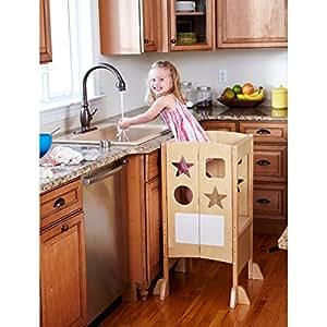 Amazon Com Guidecraft Classic Kitchen Helper Natural