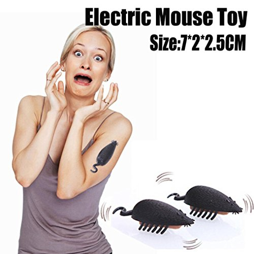 Electric Mouse Toy,Funny Simulation of Mouse Pet Cat Dog Kitten Interactive Training Play Toy (Black(Size:7cmx 2cmx 2.5cm), Size:7cmx 2cmx 2.5CM)