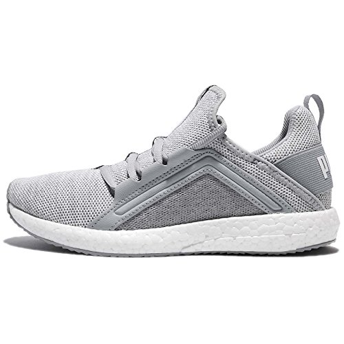 PUMA Women's Mega NRGY Knit WNS, Quarry/White, 8.5 US Review