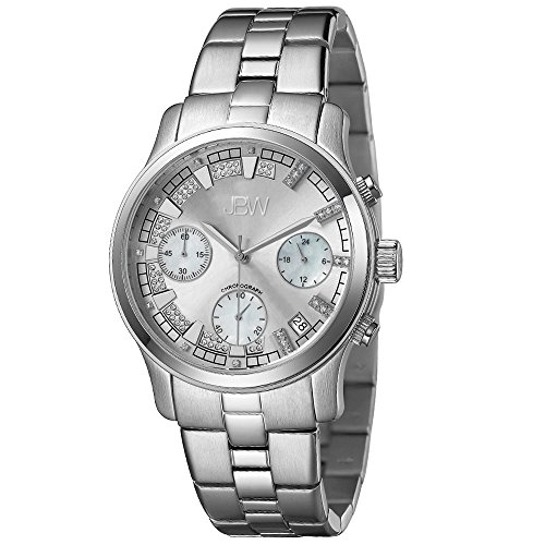 JBW Women's JB-6217-K Alessandra Silver-Tone Chronograph Diamond Watch