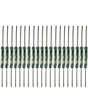 ARTGEAR 20pcs Reed Switch Reed Contact Normally Open (N/O) Magnetic Induction Switch (2mm*14mm)