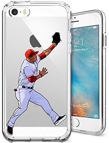 iPhone 5/5s/SE Case, Chrry Cases Ultra Slim [Crystal Clear] [Baseball Series] Soft Transparent TPU Case Cover for Apple iPhone 5/5s/SE - Millville Meteor