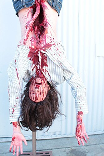High End Halloween Decorations (Halloween Prop DANGLING FEMALE ZOMBIE Haunted House Hanging Corpse)