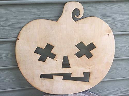 [Infinity Smashed Face Halloween Pumpkin Small 5mm Thick Plywood Unfinished (10