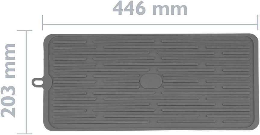 Alfombrilla escurreplatos de Silicona 446x203 mm Gris PrimeMatik