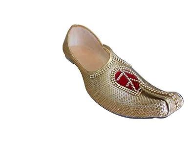 Traditional Handmade Men Shoes Sherwani Groom Khussa Flip-Flops Loafers