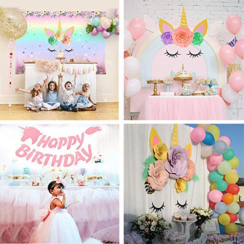 Unicorn Party Supplies And Decorations Backdrop With Glitter Giant