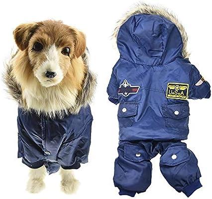 70b7bef02 Amazon.com   MUYAOPET Air Force Costume Large Dog Winter Jacket ...