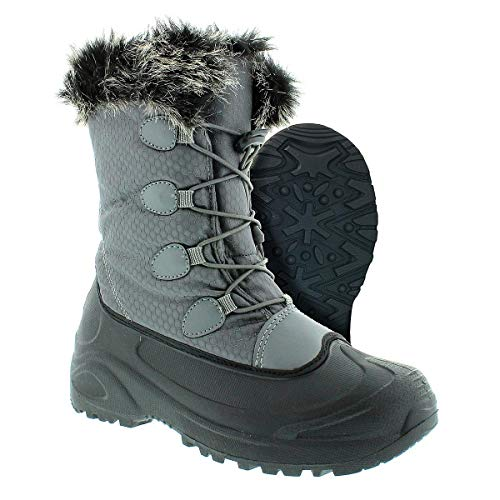 Womens Itasca Boots (Itasca Women's Vixen 200g Thinsulate, Faux Fur Collar Size 7 Snow Boot, Grey, 7.0 D US)