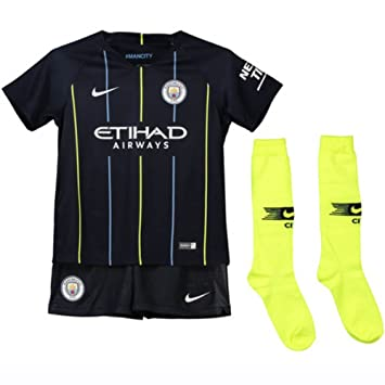 a6d26aeb7 Nike 2018-2019 Man City Away Little Boys Mini Kit  Amazon.co.uk ...